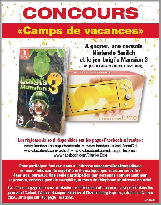 CAMPS DE VACANCES 2020