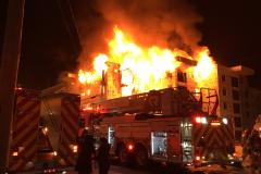 Incendie d'un bâtiment de 70 logements à Val-Bélair