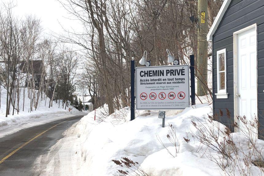 Chemin privé non déneigé sans accès public à Saint-Augustin