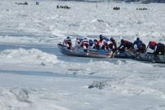 Baie de Beauport: Un total de 250 canotiers affrontent le Saint-Laurent