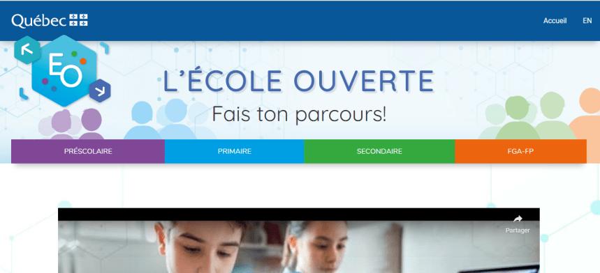 L'école ouverte : la plateforme web est en ligne