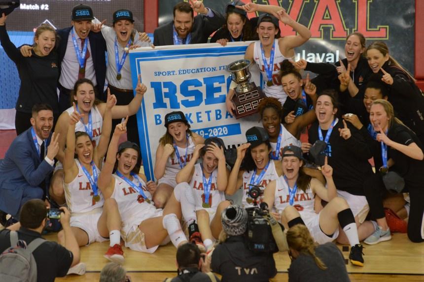 Rouge et Or basketball féminin: championnes provinciales et record d'assistance