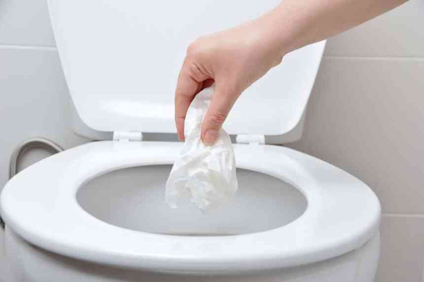 Ne pas jeter de lingettes désinfectantes à la toilette