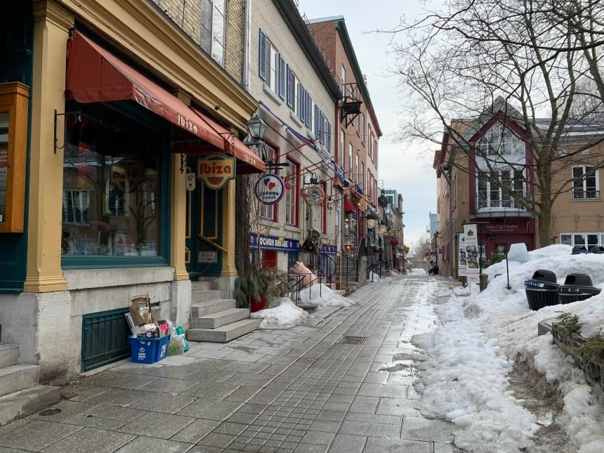 Petit-Champlain: une année détruite par la Covid-19