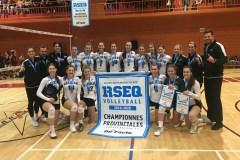 Volleyball collégial féminin division 1: les Élans de Garneau championnes provinciales