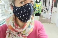 Une designer de Charlesbourg crée des masques communautaires