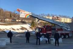 Les pompiers remercient le personnel médical