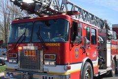 Incendie d'un véhicule à Charlesbourg