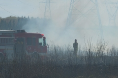 Important feu de broussaille dans un secteur de Val-Bélair