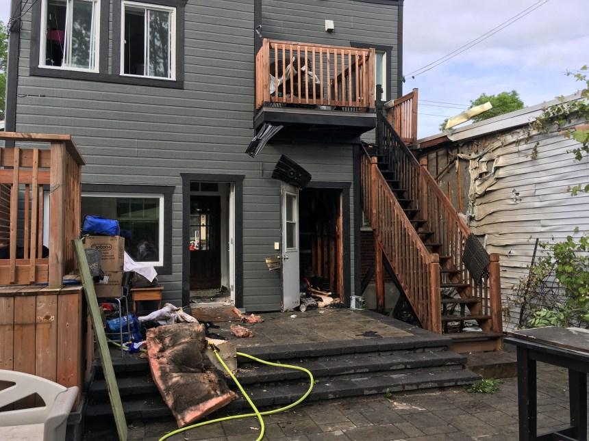 Incendie limité à un immeuble dans le quartier Maizerets