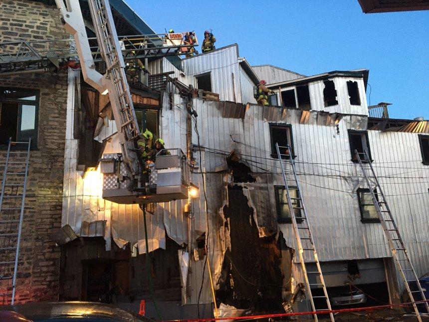 85 pompiers interviennent dans le quartier Saint-Sauveur