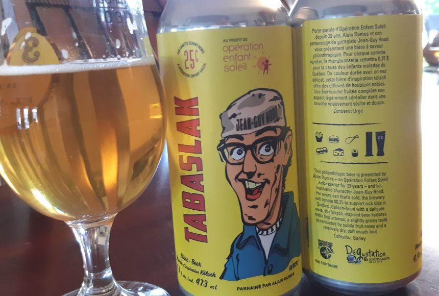 La bière Tabaslak en soutien à Enfant Soleil