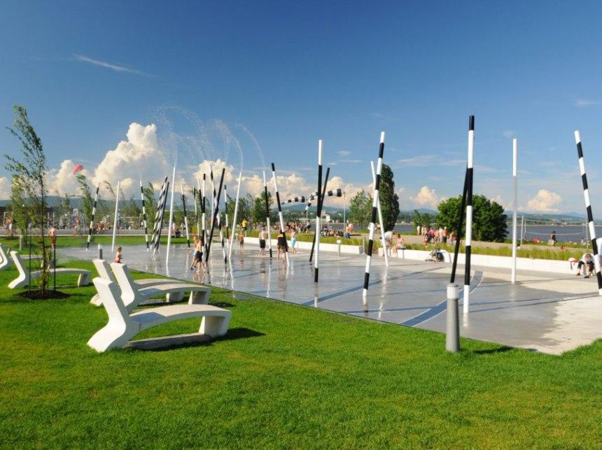 Modules, jeux d'eau et planchodromes accessibles partout