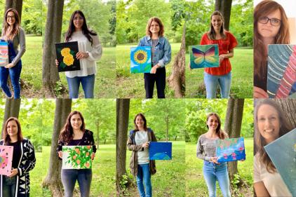 Les toiles du bonheur: l'art pour nos aînés
