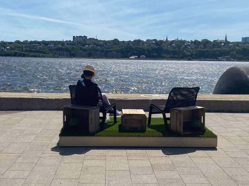 Réouverture des places publiques du port de Québec