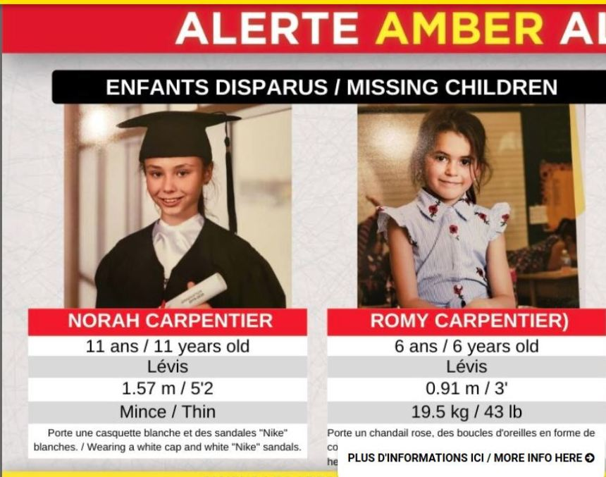Alerte AMBER: les deux fillettes retrouvées mortes