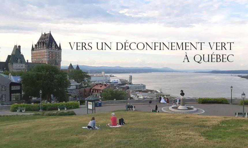 Lancement d'une initiative pour un déconfinement vert à Québec