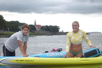 Premier Prône paddlebord à Québec: Temps record pour Sandrine Hamel