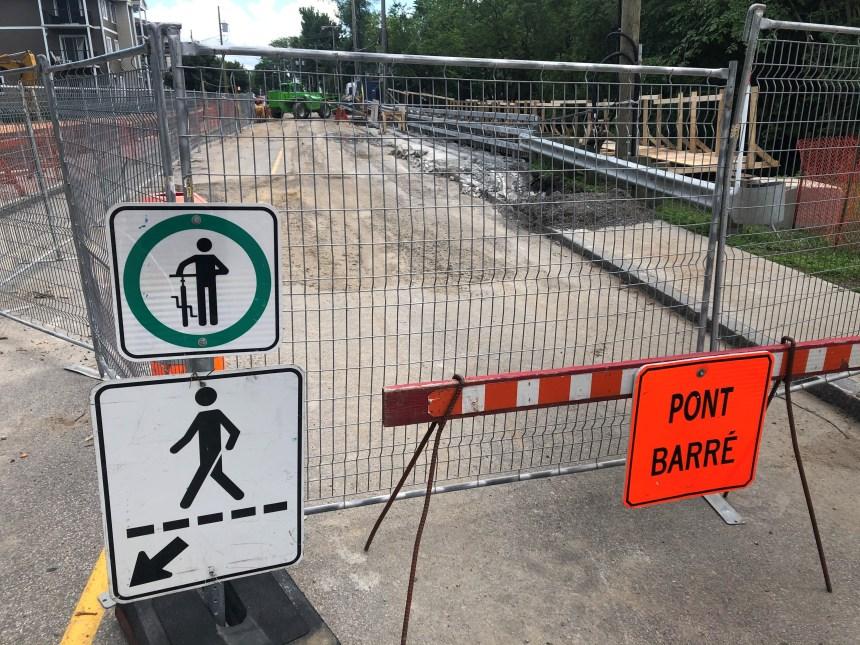 Fermeture du pont de l'Accueil jusqu'en octobre