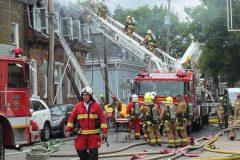 Un immeuble centenaire incendié dans le quartier Saint-Sauveur
