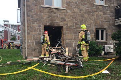 Quartier Neufchâtel Est-Lebourgneuf: Incendie dans une chambre à coucher