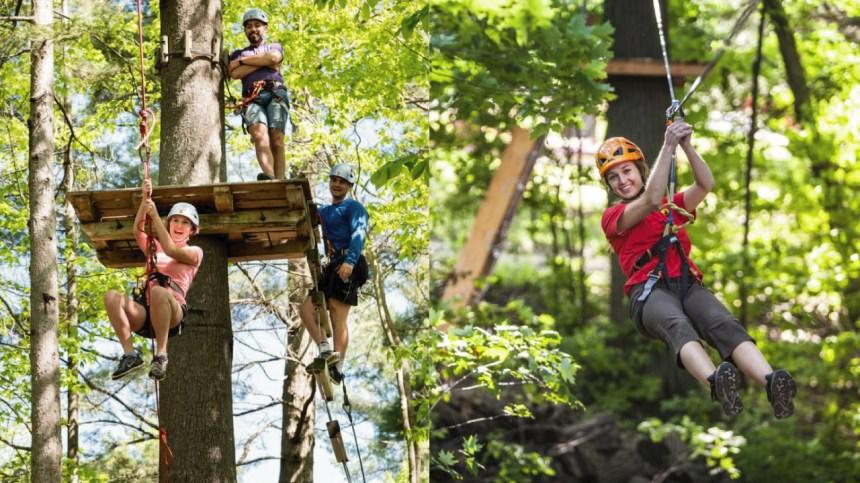 Arbre-en-arbre, l'activité à faire en famille pour repousser ses limites