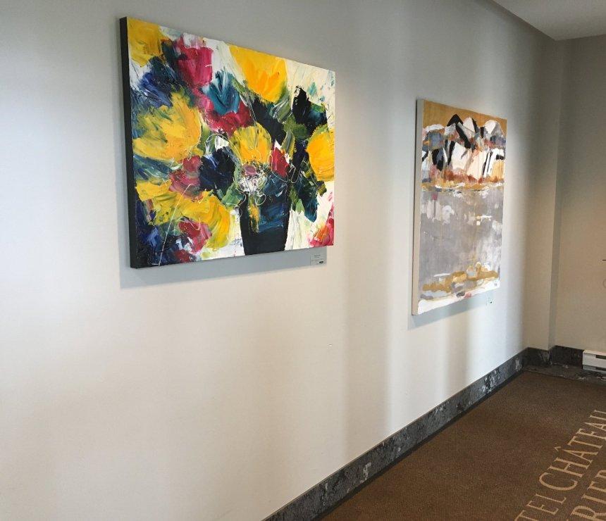 Des artistes de BLEU s'exposent à l'Hôtel Château Laurier