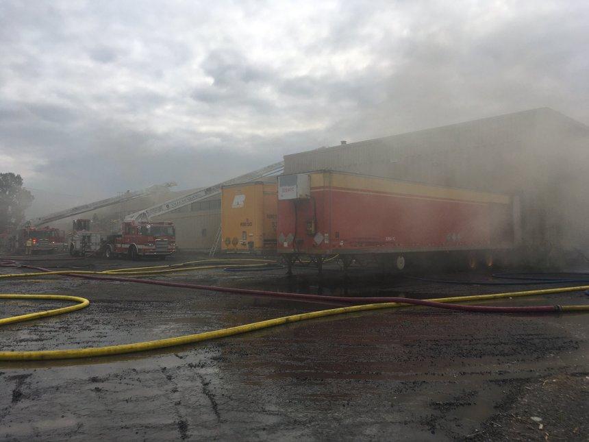 Incendie majeur chez Métalec portes et cadres d'acier