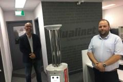 ASEPT-UV: le robot qui fait trembler la COVID-19