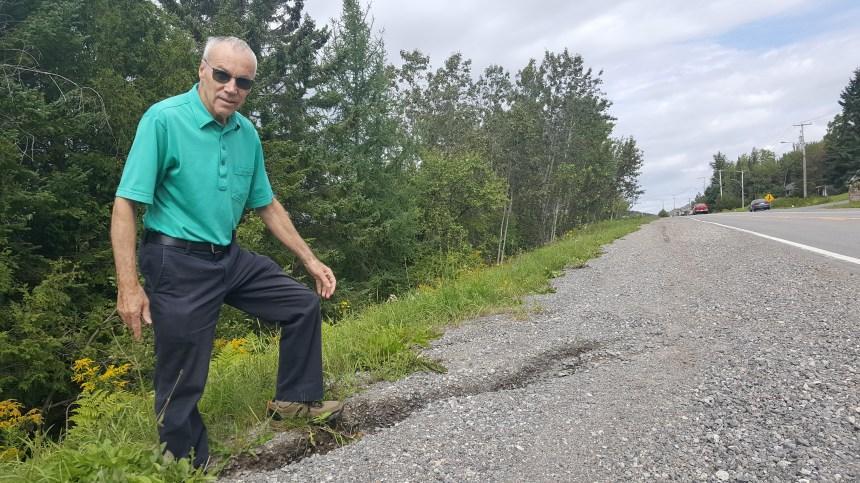 Un citoyen juge les accotements du boulevard Talbot dangereux et presse la Ville d'agir
