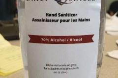 Avis: Désinfectant pour les mains de contrefaçon