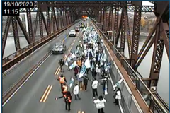 La FIQ prend d'assaut le pont de Québec