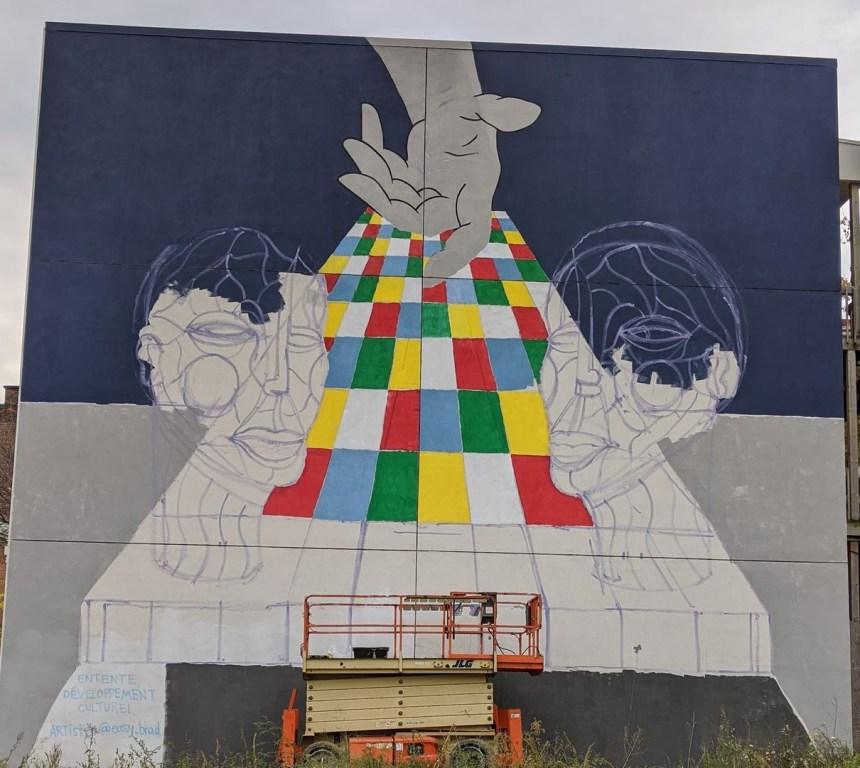 Une murale pour symboliser le passage entre deux quartiers