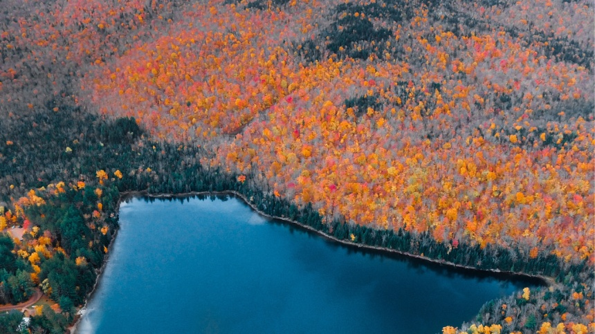 Profitez pleinement des couleurs de l'automne au sommet des pentes de ski!