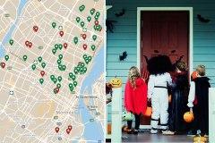 Des cartes interactives montrent qui donnera des bonbons à l'Halloween