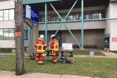 Incendie à l'incinérateur: le joint d'une conduite endommagé