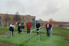 Inauguration de modules d'entraînement extérieurs au Patro de Charlesbourg