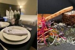 Savourez un repas gastronomique dans le confort d'une chambre d'hôtel