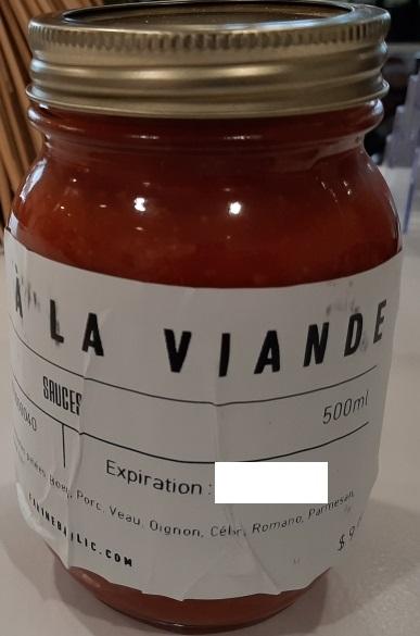 Avis de ne pas consommer cette sauce à la viande