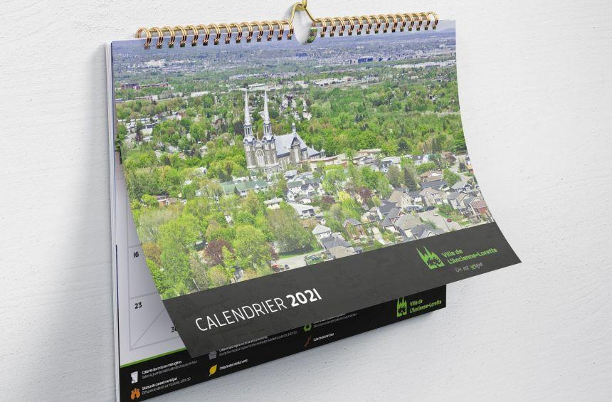 Version initiale erronée du calendrier lorettain 2021