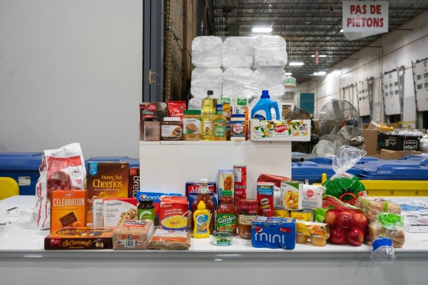 Distribution de 1000 paniers de Noël