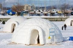 Bulles et espaces sécuritaires au Village Nordik