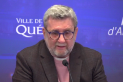 Le maire Labeaume satisfait d'un sondage favorable au tramway