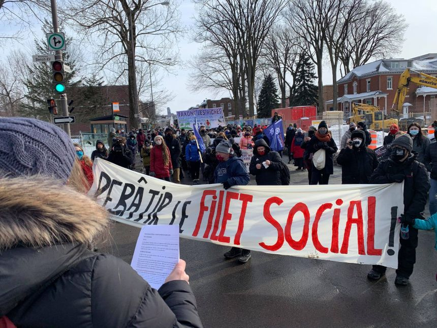 Manifestationpour un meilleur filet social