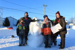 Concours de sculptures sur neige