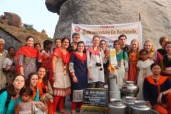 Rochebelle marche pour des puits en Inde