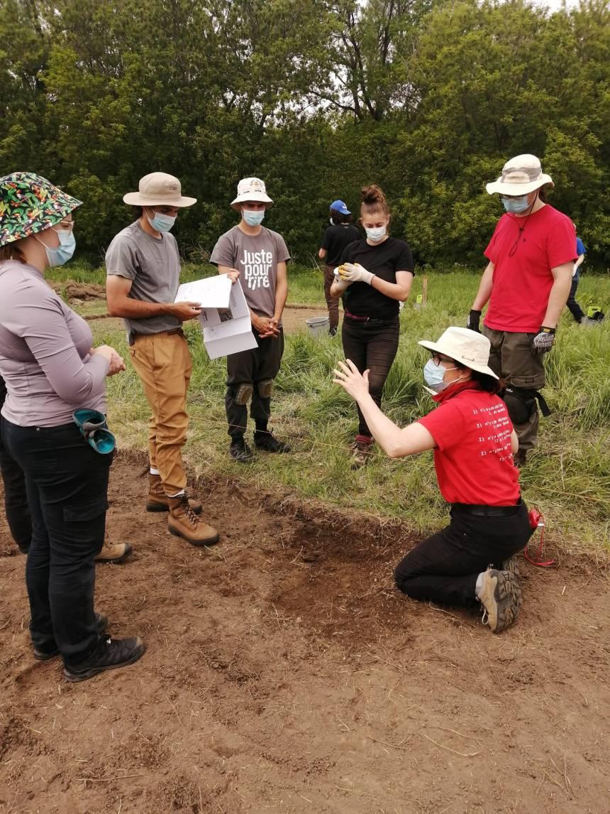 Nouveau site de fouillesdans l'arrondissement des Rivières