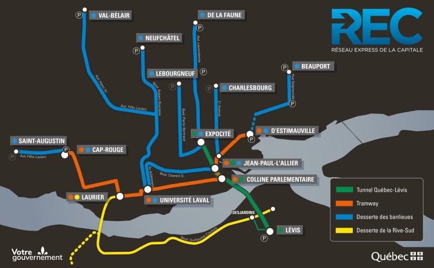 Tramway, tunnel et voies réservées quadrilleront la région
