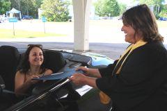 Remise de diplômes à l'auto au CNDF