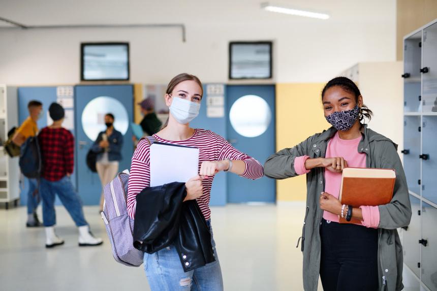 Des élèves remerciés pour des efforts pandémiques